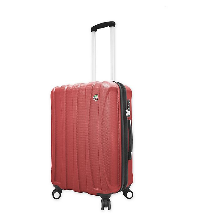 Alternate image 1 for Mia Toro ITALY Tasca Fusion 24-Inch Hardside Spinner Checked Luggage in Red