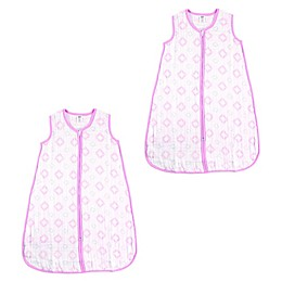 Hudson Baby® 2-Pack Cotton Muslin Wearable Blanket in Pink