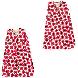 Touched by Nature Size 0-6M 2-Pack Poppy Wearable Blankets in Pink