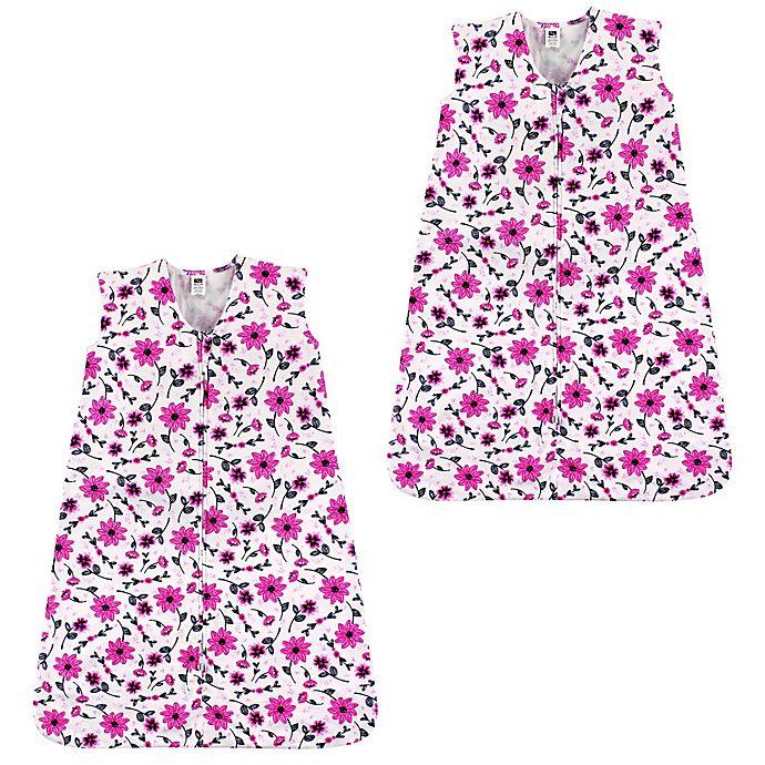 Alternate image 1 for Hudson Baby® 2-Pack Flower Sleeping Bag in Pink