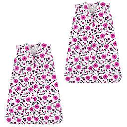 Hudson Baby® 2-Pack Flower Sleeping Bag in Pink
