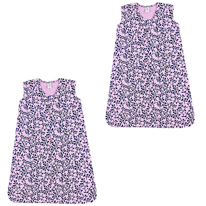 Alternate image 1 for Yoga Sprout® Size 18-24M 2-Pack Fresh Floral Sleeping Bags in Pink