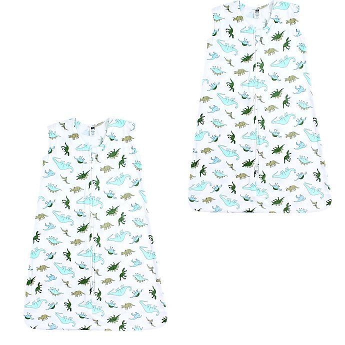 Alternate image 1 for Hudson Baby® 2-Pack Dinosaurs Sleeping Bags in Green
