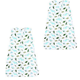 Hudson Baby® Size 12-18M 2-Pack Dinosaurs Sleeping Bags in Green