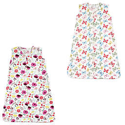 Touched by Nature 2-Pack Botanical & Butterfly Wearable Blankets in Pink