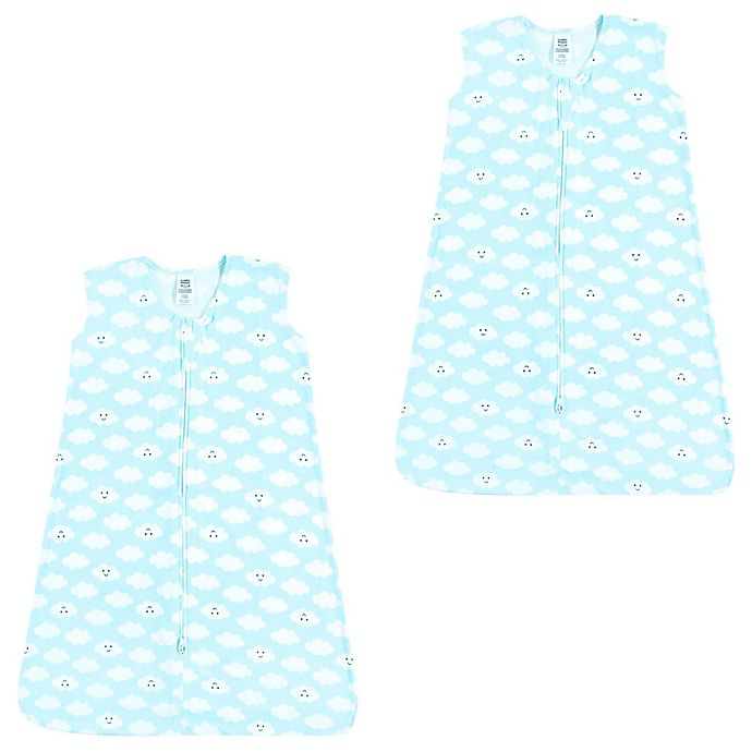 Alternate image 1 for Luvable Friends® 2-Pack Clouds Sleep Sacks in Blue