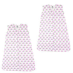 Luvable Friends® 2-Pack Rainbows Sleep Sacks in Pink