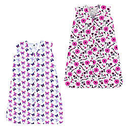 Hudson Baby® Size 0-6M 2-Pack Flowers and Butterflies Sleep Sacks in Pink