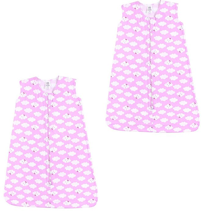 Alternate image 1 for Luvable Friends® 2-Pack Clouds Sleep Sacks in Pink