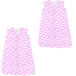 Luvable Friends® Size 6-12M 2-Pack Clouds Sleep Sacks in Pink