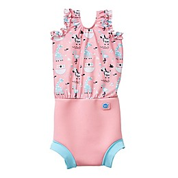 Splash About Happy Nappy™ Nina's Ark Swimsuit in Pink