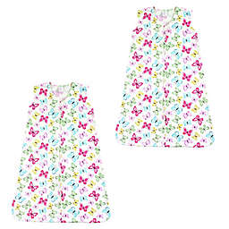 Touched by Nature Size 6-12M 2-Pack Butterfly Wearable Blankets in Pink