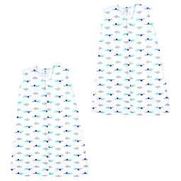 Luvable Friends® Size 6-12M 2-Pack Airplane Sleep Sacks in Grey