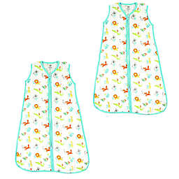 Luvable Friends® Size 12-18M 2-Pack ABC Sleep Sacks in Green