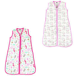 Hudson Baby® Size 0-6M 2-Pack Dream Catchers and Wood Sleep Sacks in Pink