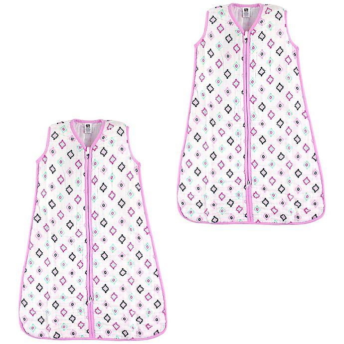 Alternate image 1 for Hudson Baby® 2-Pack Aztec-Inspired Sleep Sacks in White
