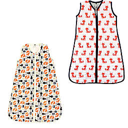 Hudson Baby® Size 12-18M 2-Pack Foxes and Forest Sleep Sacks in Orange