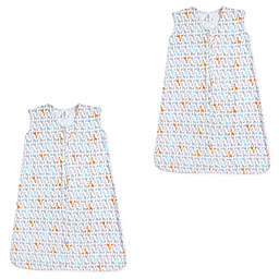 Yoga Sprout Size 6-12M 2-Pack Giraffe Wearable Blankets in Orange