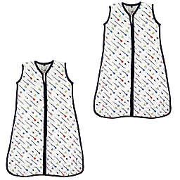 Hudson Baby® Size 0-6M 2-Pack Arrows Sleep Sacks in White