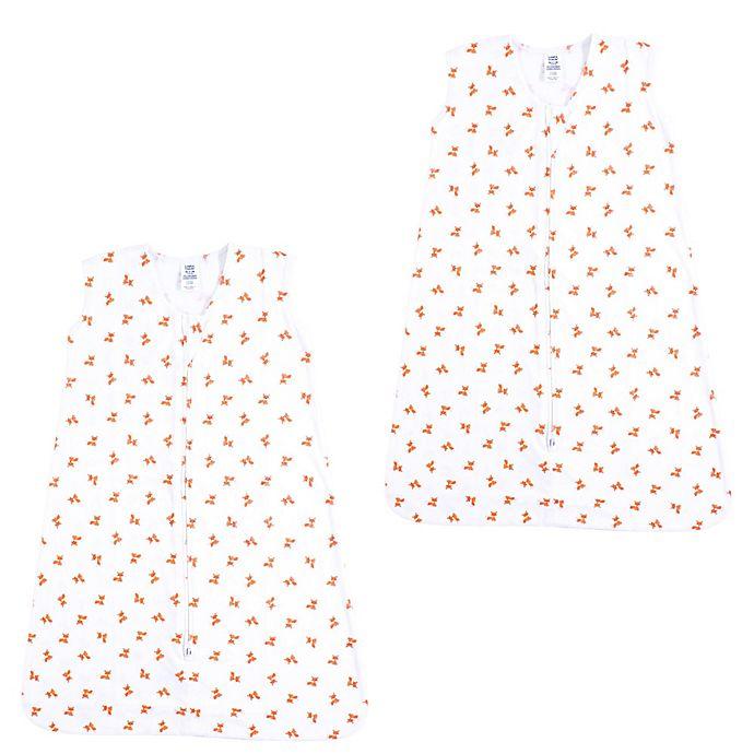 Alternate image 1 for Luvable Friends® Size 12-18M 2-Pack Fox Sleep Sacks in Beige
