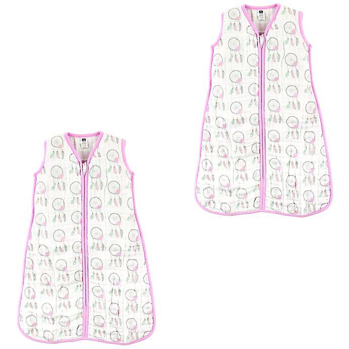 Alternate image 1 for Hudson Baby® Size 0-6M 2-Pack Dream Catchers Sleep Sacks in Beige