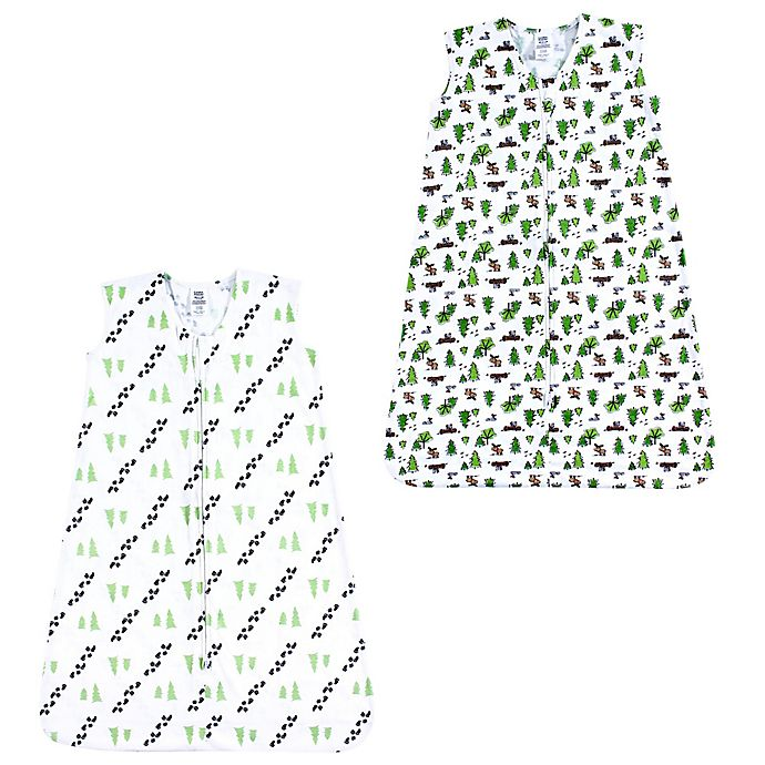 Alternate image 1 for Luvable Friends® 2-Pack Moose and Trees Sleep Sacks in Green