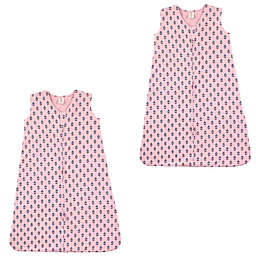 Touched by Nature 2-Pack Tiny Flowers Sleeping Bag in Pink