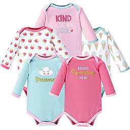 Luvable Friends® 5-Pack Dreamer Bodysuits in Pink