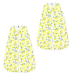 Hudson Baby® 2-Pack Lemons Wearable Blankets in Yellow
