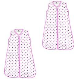 Hudson Baby® 2-Pack Flower Sleep Sacks in White