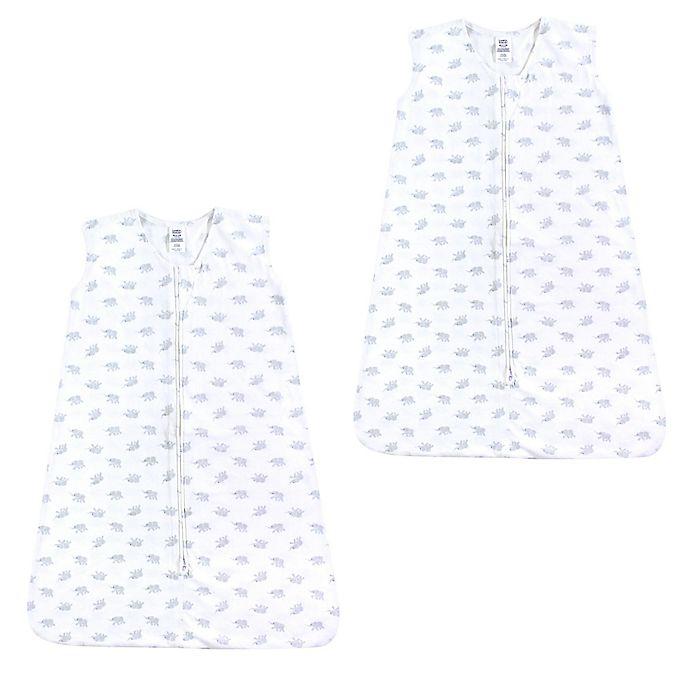 Alternate image 1 for Luvable Friends® Size 18-24M Elephant Sleep Sacks in White (Set of 2)