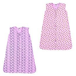 Hudson Baby® 2-Pack Hearts and Elephants Sleep Sacks in Pink