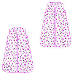 Luvable Friends® Size 0-6M 2-Pack Floral Sleep Sacks in Pink
