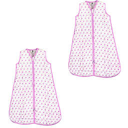 Hudson Baby® Size 0-6M 2-Pack Sheep Sleep Sacks in Pink