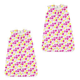 Luvable Friends® Size 0-6M 2-Pack Flowers Sleeping Bags in Pink