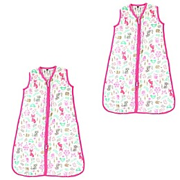 Hudson Baby® 2-Pack Woodland Fox Wearable Blankets in Pink