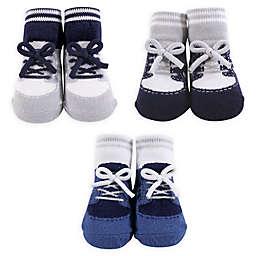 The Hudson Baby® Size 0-6M Boy's Sock 3-Piece Gift Set