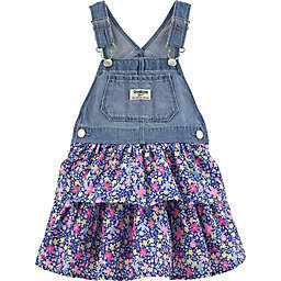 OshKosh B'gosh® Denim and Floral Skortall in Blue