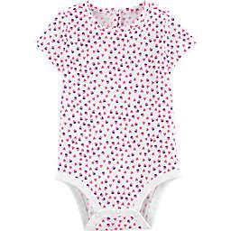 OshKosh B'gosh® Hearts and Strawberries Bodysuit in White