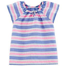 OshKosh B'gosh® Ruffle Multicolor Striped T-Shirt