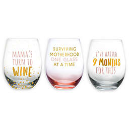 Pearhead® Motherhood Stemless Wine Glass Collection