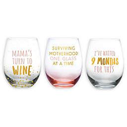 Pearhead® Motherhood Stemless Wine Glass Collection