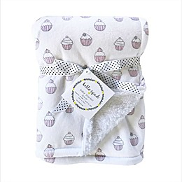 Hello Spud Cupcakes Baby Blanket in Pink