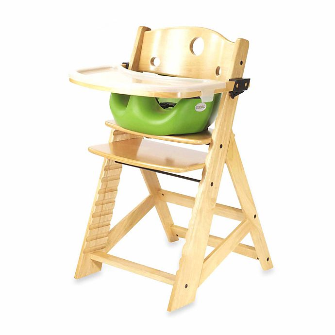 Alternate image 1 for Keekaroo® Height Right High Chair Natural with Lime Infant Insert and Tray