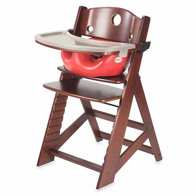 Alternate image 1 for Keekaroo® Height Right High Chair Mahogany with Cherry Infant Insert and Tray