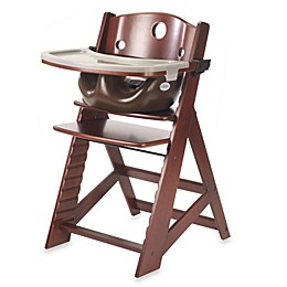 Keekaroo® Height Right High Chair Mahogany with Chocolate Infant Insert and Tray