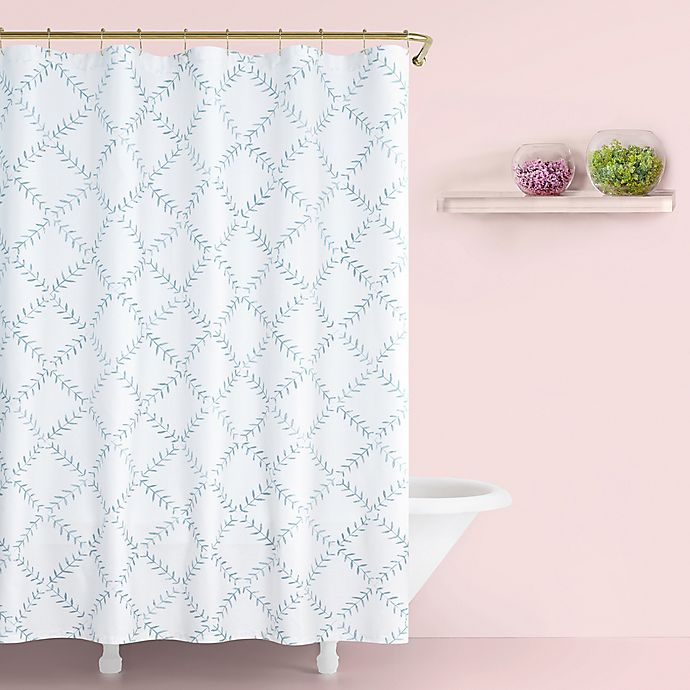 Alternate image 1 for kate spade new york Fern Trellis Shower Curtain in Turquoise