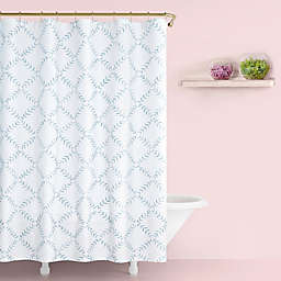 kate spade new york Fern Trellis Shower Curtain in Turquoise