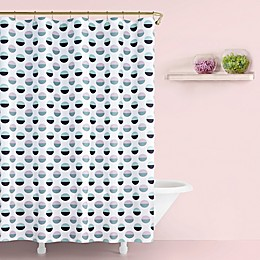 kate spade new york Half Dot Shower Curtain in Lavender
