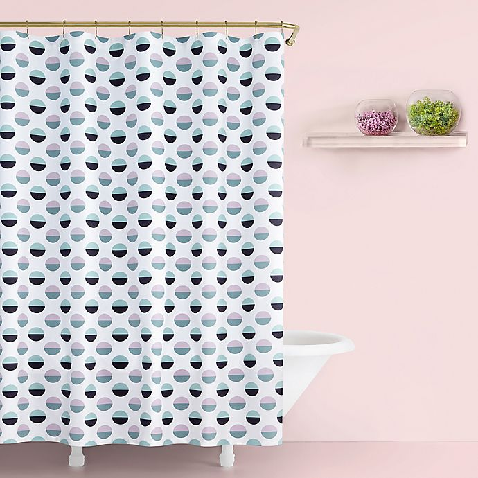 Alternate image 1 for kate spade new york Half Dot Shower Curtain in Lavender